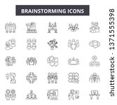 brainstorming line icons  signs ... | Shutterstock .eps vector #1371555398