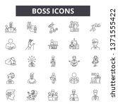 boss line icons  signs set ... | Shutterstock .eps vector #1371555422