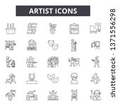 artist line icons  signs set ... | Shutterstock .eps vector #1371556298