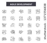 agile development line icons ... | Shutterstock .eps vector #1371556838