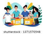 food and clothes donation.... | Shutterstock .eps vector #1371570548