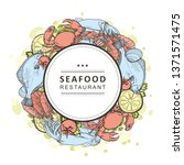 vector illustration of seafood... | Shutterstock .eps vector #1371571475