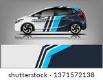 car decal wrap design vector.... | Shutterstock .eps vector #1371572138