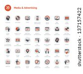 media and advertising icons | Shutterstock .eps vector #137157422
