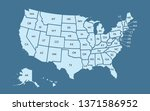 usa map land area vector with... | Shutterstock .eps vector #1371586952