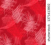 various pen hatches. seamless... | Shutterstock .eps vector #1371613802