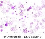 snow flakes falling macro... | Shutterstock .eps vector #1371636848