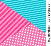 cute pattern background in lol... | Shutterstock .eps vector #1371648998