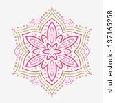 beautiful stylized flower | Shutterstock . vector #137165258