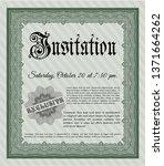 green invitation. money pattern.... | Shutterstock .eps vector #1371664262