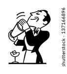 bartender mixing drink   retro... | Shutterstock .eps vector #137166896