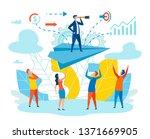 effective leader team metaphor... | Shutterstock .eps vector #1371669905