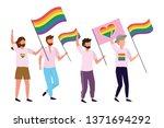 homosexual proud cartoon   Shutterstock .eps vector #1371694292
