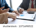 small business meeting group in ... | Shutterstock . vector #1371698522