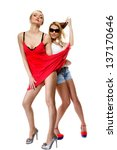full length two beautiful sexy... | Shutterstock . vector #137170646