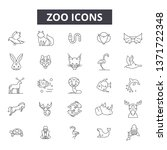 zoo line icons  signs set ... | Shutterstock .eps vector #1371722348