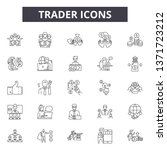 trader line icons  signs set ... | Shutterstock .eps vector #1371723212