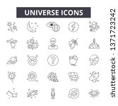 universe line icons  signs set  ... | Shutterstock .eps vector #1371723242