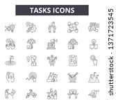 tasks line icons  signs set ... | Shutterstock .eps vector #1371723545