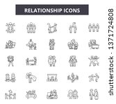relationship line icons  signs...   Shutterstock .eps vector #1371724808