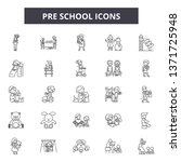 pre school line icons  signs... | Shutterstock .eps vector #1371725948