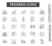 progress line icons  signs set  ... | Shutterstock .eps vector #1371725975