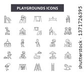 playgrounds line icons  signs... | Shutterstock .eps vector #1371726395