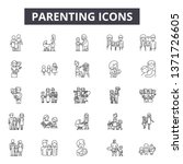 parenting line icons  signs set ... | Shutterstock .eps vector #1371726605