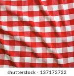Постер, плакат: red and white linen