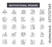 motivational speaker line icons ...   Shutterstock .eps vector #1371727565