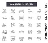 manufacturing industry line... | Shutterstock .eps vector #1371728138