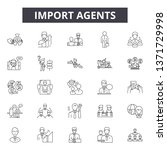 import agents line icons  signs ... | Shutterstock .eps vector #1371729998