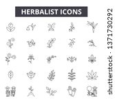 herbalist line icons  signs set ... | Shutterstock .eps vector #1371730292