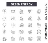 green energy line icons  signs... | Shutterstock .eps vector #1371731672