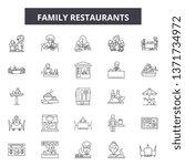 family restaurants line icons ... | Shutterstock .eps vector #1371734972
