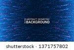 vector. abstract futuristic... | Shutterstock .eps vector #1371757802
