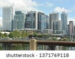 austin  tx   oct 13  skyline of ... | Shutterstock . vector #1371769118