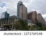 austin  tx   oct 13  skyline of ... | Shutterstock . vector #1371769148