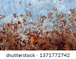rusted metal texture. rusted... | Shutterstock . vector #1371772742