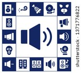 loud icon set. 17 filled loud... | Shutterstock .eps vector #1371776822