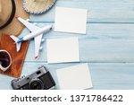 travel vacation background... | Shutterstock . vector #1371786422