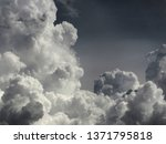 Large Cumulus Cloud Of White...