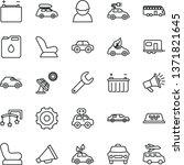 thin line vector icon set  ... | Shutterstock .eps vector #1371821645