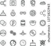 thin line vector icon set  ... | Shutterstock .eps vector #1371822965