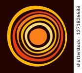 stylized sun. australian art.... | Shutterstock .eps vector #1371826688