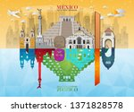mexico landmark global travel... | Shutterstock .eps vector #1371828578