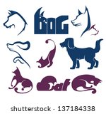 cats and dogs  my favorite pet  ... | Shutterstock .eps vector #137184338