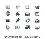 journalism and press icons | Shutterstock .eps vector #137184842