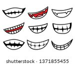 cartoon smiling by vector and... | Shutterstock .eps vector #1371855455