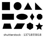 set of simple geometric shapes... | Shutterstock .eps vector #1371855818